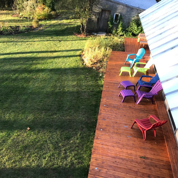 Writing Retreats - Adirondacks on Deck