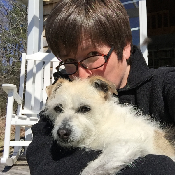 Writing Retreats - Joan Dempsey with dog